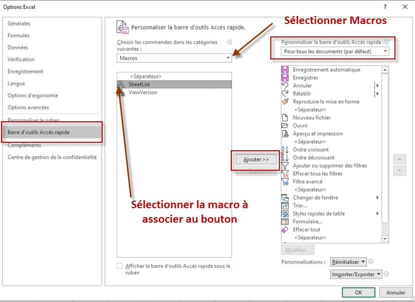 Nom : dlg Personnaliser la barre d'outils Access rapide pour Macros.png Affichages : 101 Taille : 145,6 Ko