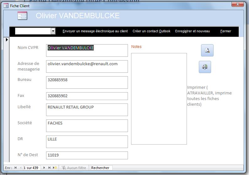 Cr er contact outlook partir d 39 un formulaire client - Formulaire de contact ...