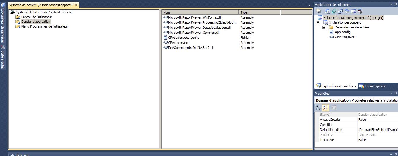 Probleme deploiment d'une application client/serveur