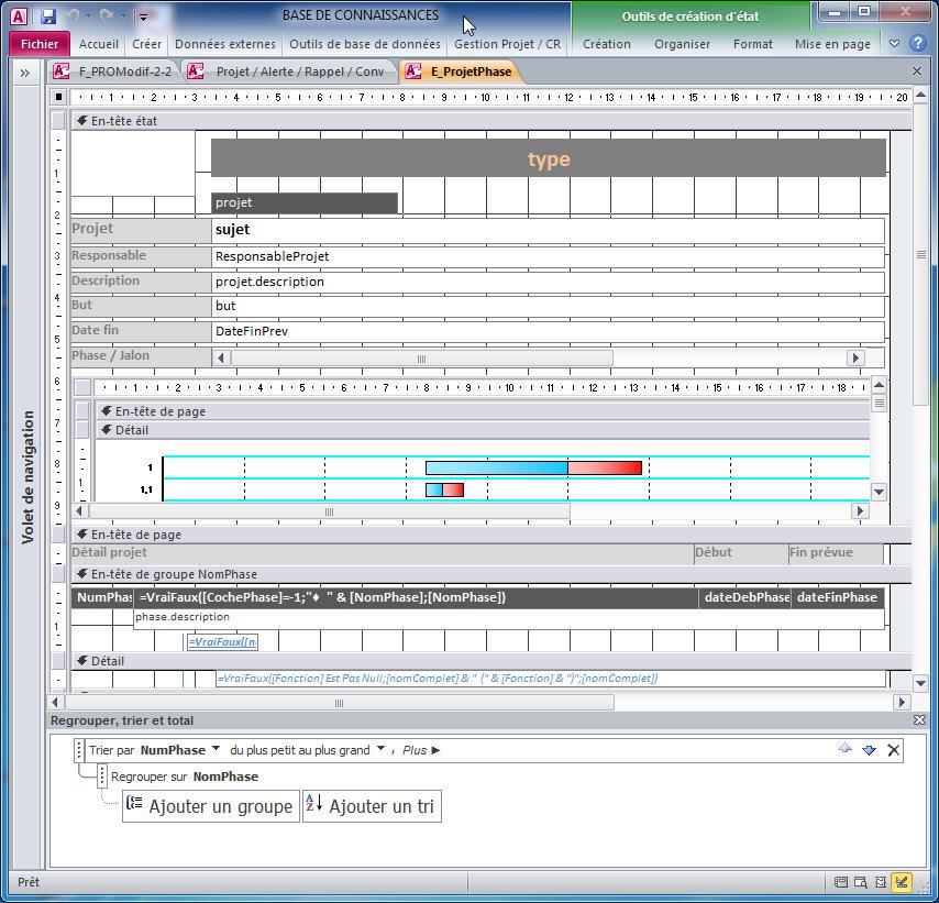 vba access imprimer etat pdf