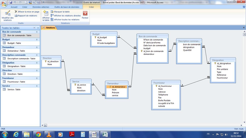 exemple de base de données access 2010