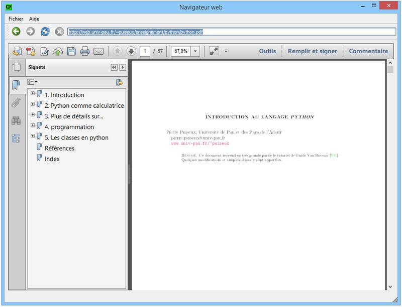 QtWebKit] Afficher un fichier PDF dans un QWebView