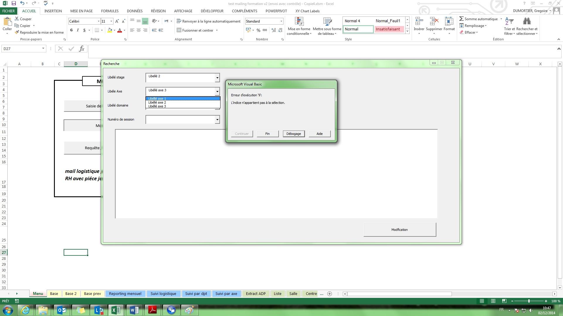 Xl 2013 transfert de donn es d un userform un autre for Copie ecran