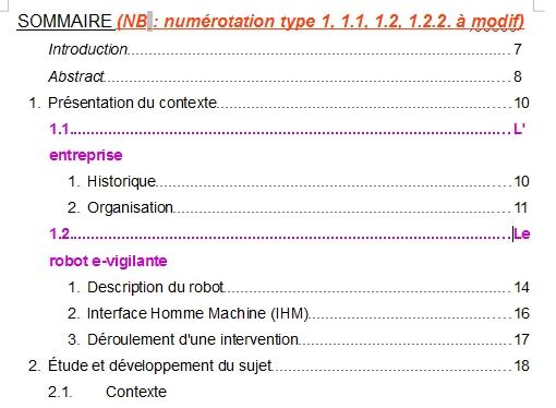 Libreoffice texte sous niveaux de num rotation et tabulations - Faire un sommaire sur open office ...