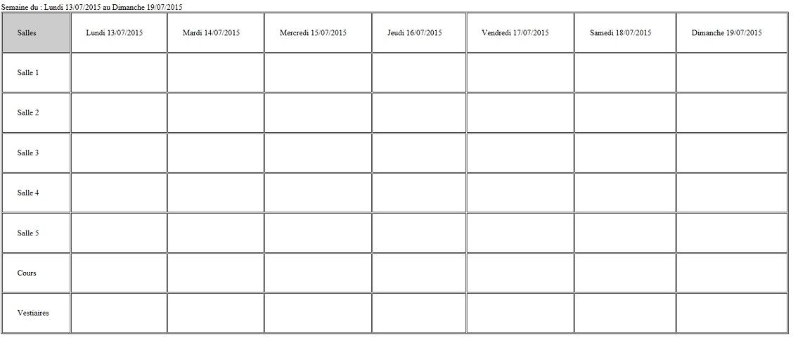 Remplir Un Tableau En Fonction Des Dates Selectionnees