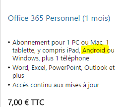 Excel 365 sur tablette android vba excel - Open office android tablette ...