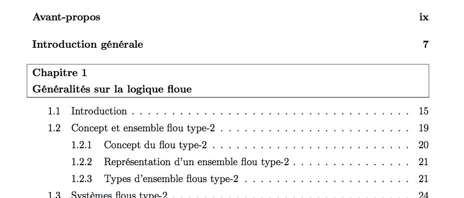 Encadrer des parties dans la table des mati res - Exemple table des matieres ...