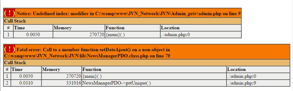 PHP 5 6] Classe de news