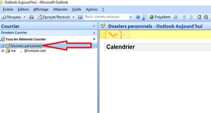Supprimer Calendrier Outlook.Ol 2007 Comment Supprimer Masquer Dossiers Personnels