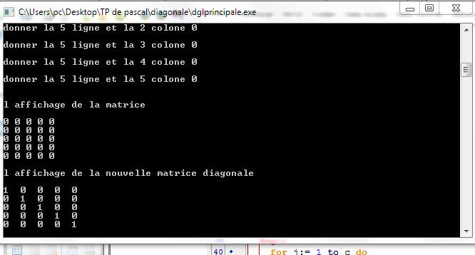 Turbo Pascal Tableau A Deux Dimensions