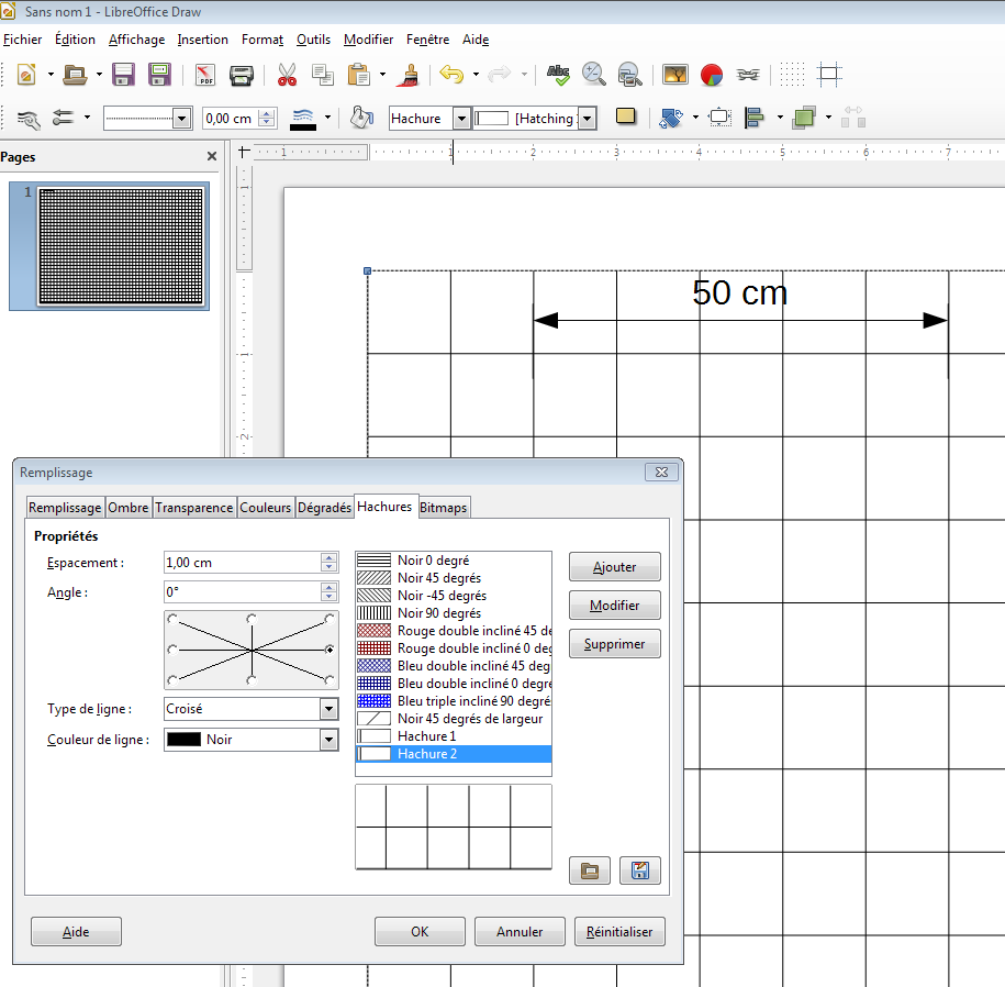 Libreoffice dessin quadrillage l 39 chelle - Comment faire un organigramme sur open office ...