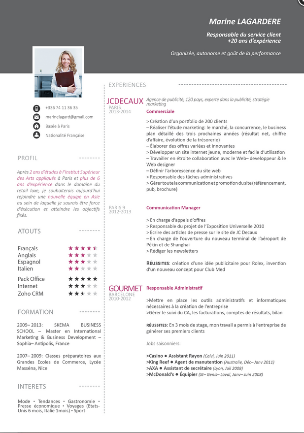 exemple de cv consultant green it