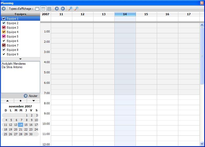 Calendar Planner Vb : Utiliser monocalendar pour gérer des plannings