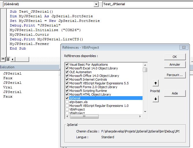 XL-2007] Utilisation Simple contact sec sur Port com en VBA