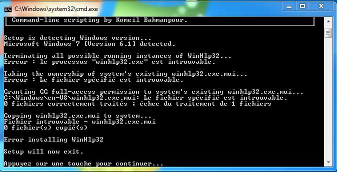 GRATUIT TÉLÉCHARGER WINHLP32.EXE