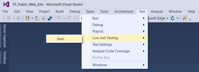 Nom : How-to-start-Live-Unit-Tests.png Affichages : 10736 Taille : 30,8 Ko