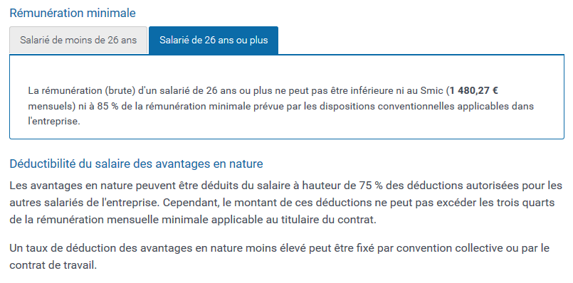 Salaire Median Contrat Professionnalisation