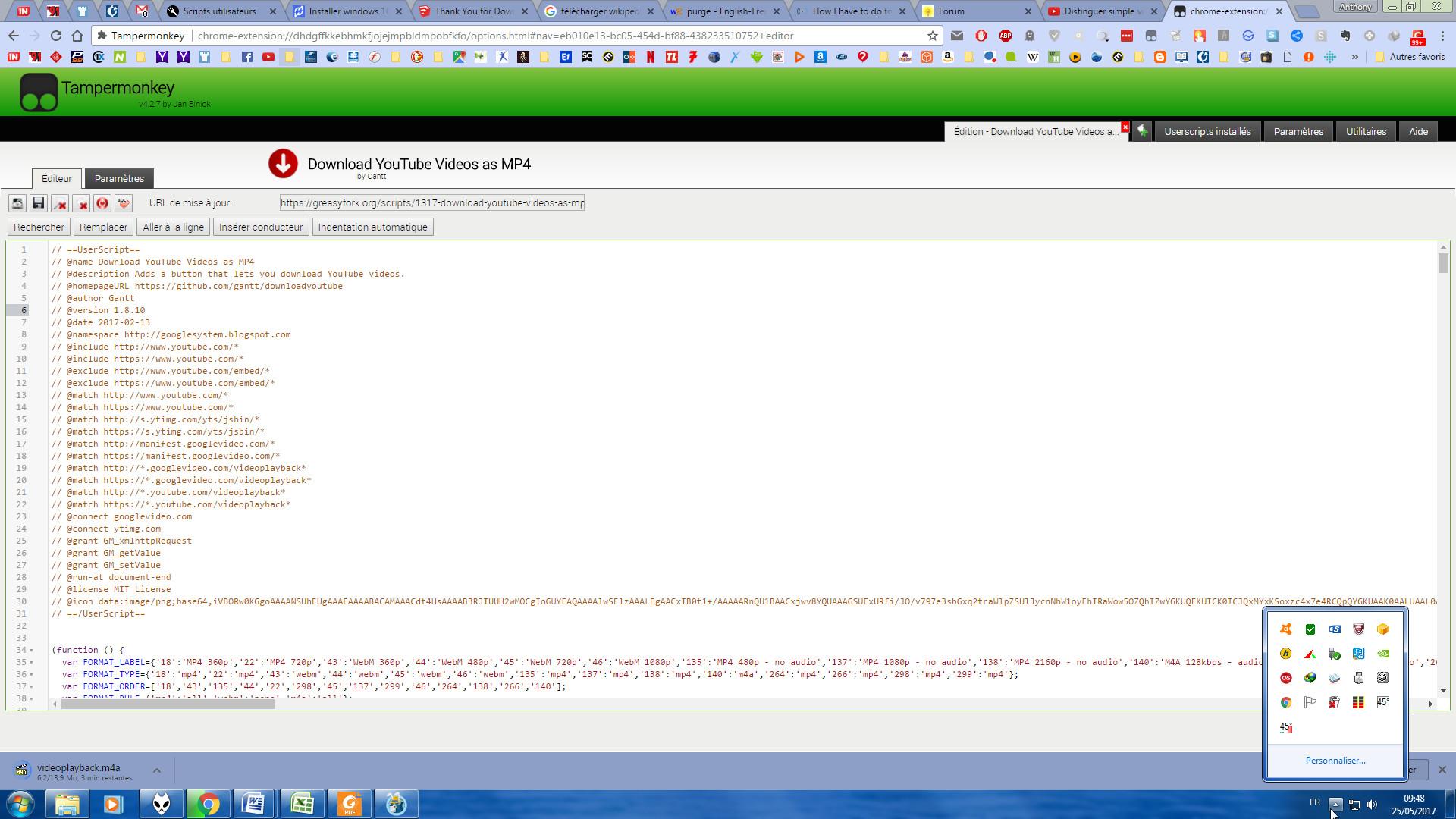 Script tampermonkey (Chrome)  Quoi modifier pour qu'il renomme le