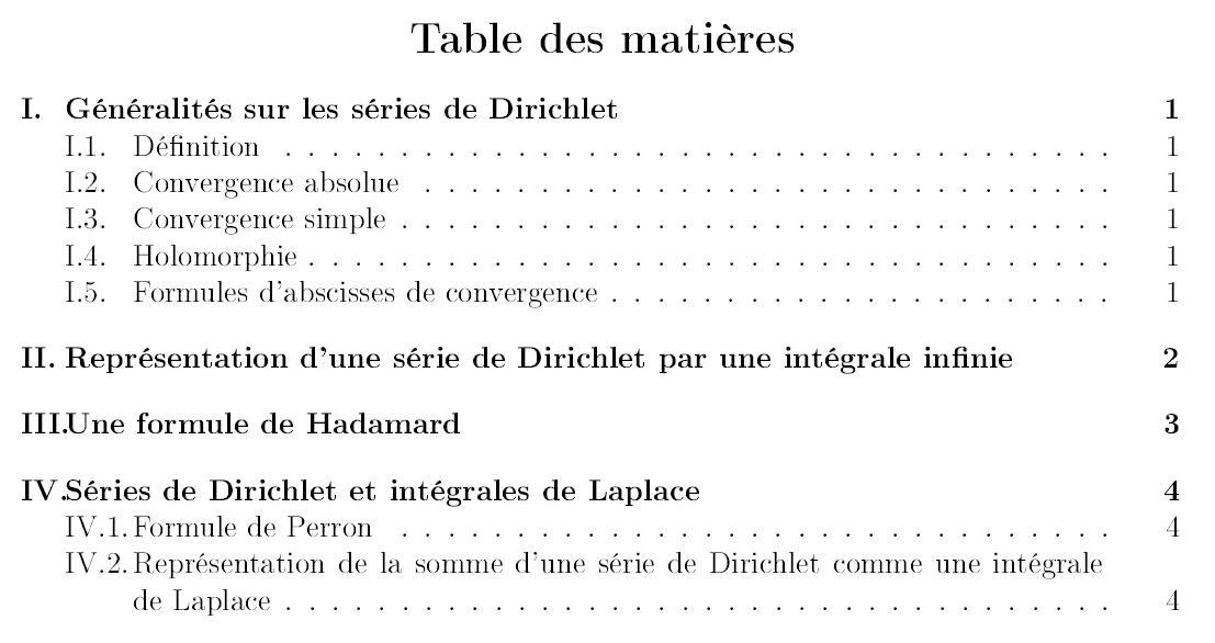 Am liorer la table des mati res - Exemple table des matieres ...