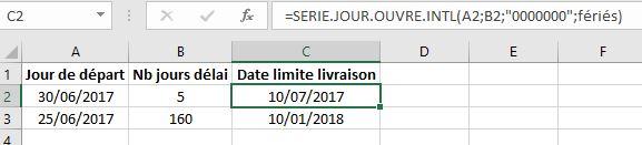 Xl 2013 Formule Excel Pour Calculer Des Delais Calendaires Sans