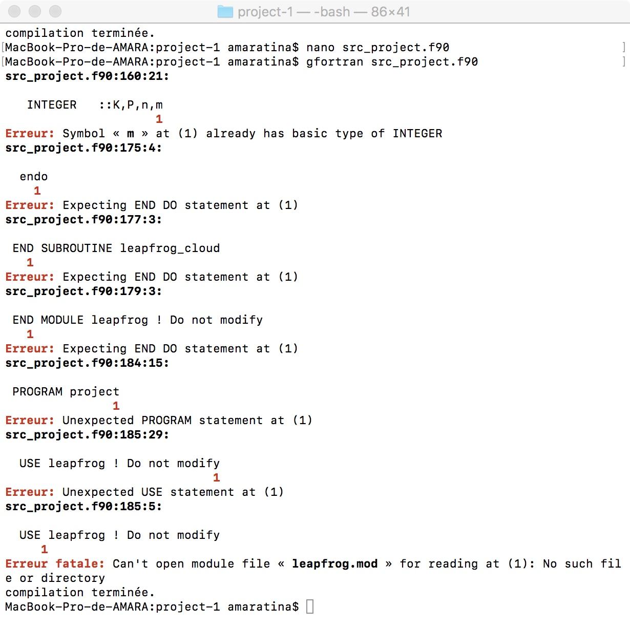 Error Unexpected Statement Function Statement At 1 Gfortran