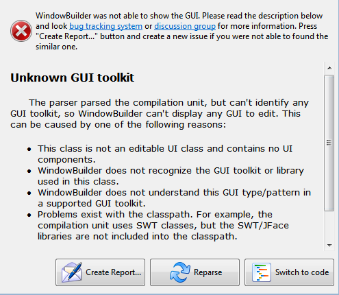 Unknown GUI toolkit