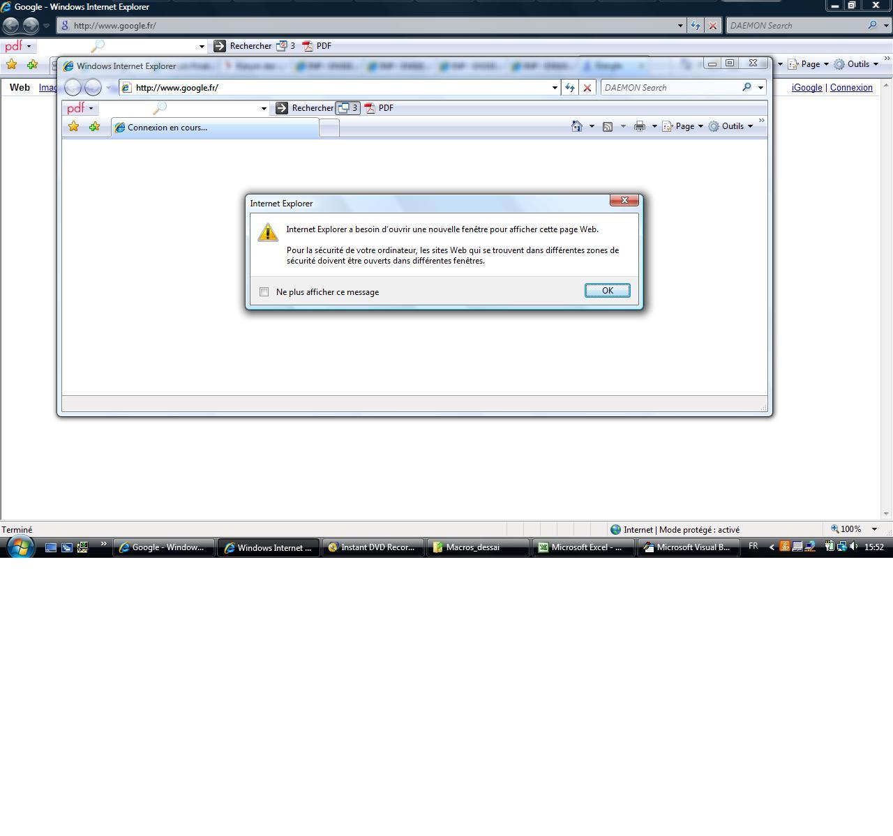probl me ouverture internet explorer avec macro