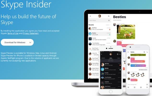 Skype teste le chiffrement de bout en bout sur sa dernière version Insider