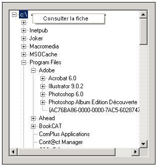 treeview menu clic droit