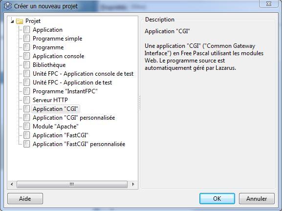Lazarus] Application WEB cgi / fast CGI Tout est KO