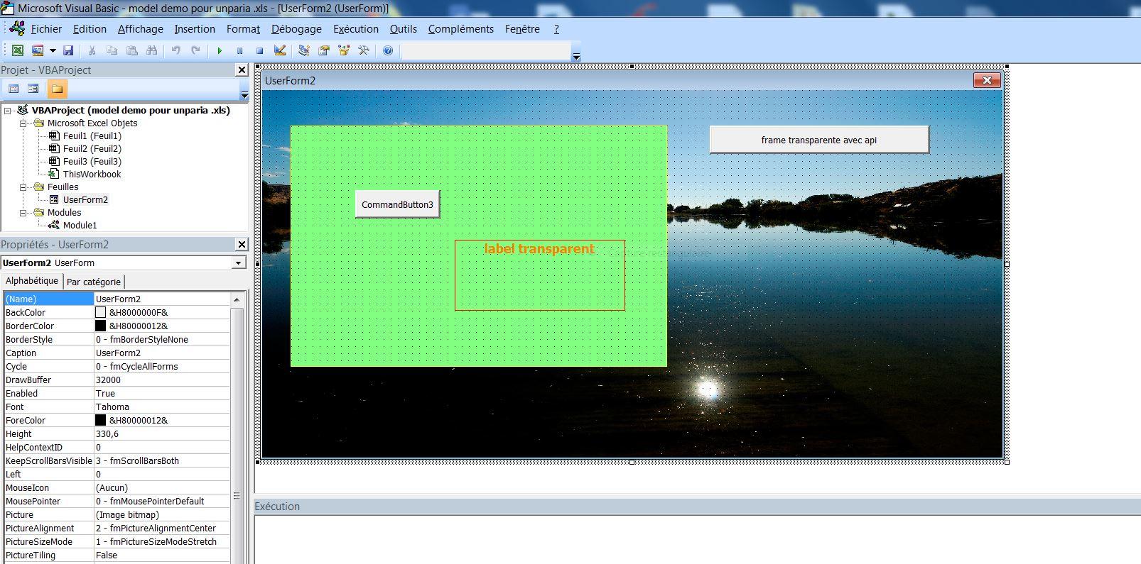 Xl 2010 Rendre Un Frame Transparent Page 2 Macros Et