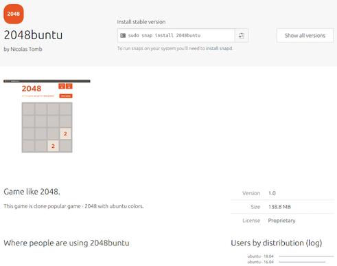 Nom : 2048buntu-game-ubuntu-snap-store.png Affichages : 2134 Taille : 40,6 Ko