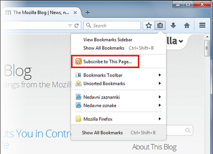 Firefox Se Prepare A Se Separer Du Support De Live Bookmarks Sa