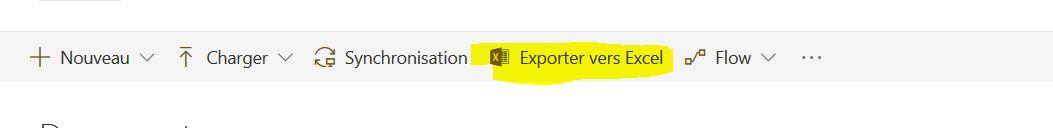Nom : Capture sharepoint exporter vers excel.JPG Affichages : 33 Taille : 17,8 Ko