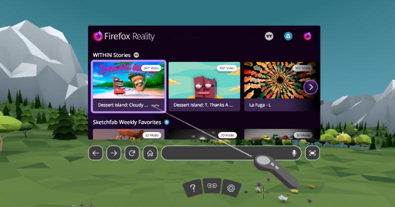 Un navigateur Internet pour les casques de VR — Firefox Reality