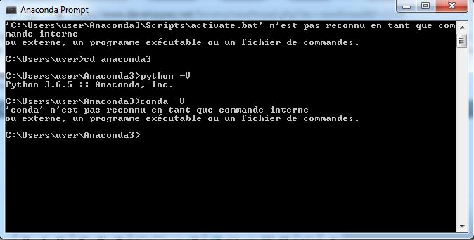 Python 3 X Conda N Est Pas Reconnu En Tant Que Commande