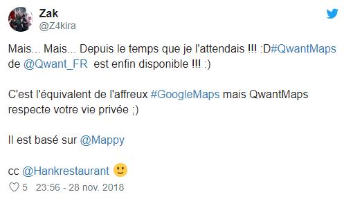 Qwant lance en alpha son concurrent de Google Maps