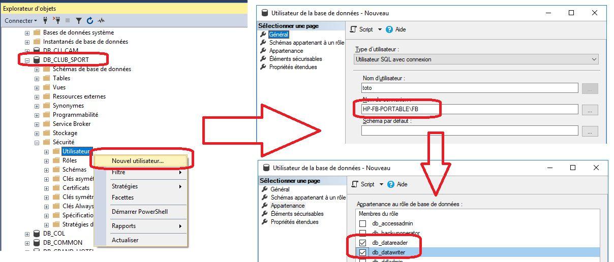 Nom : Créer les utilisateurs  SQL Server.jpg Affichages : 20 Taille : 96,7 Ko