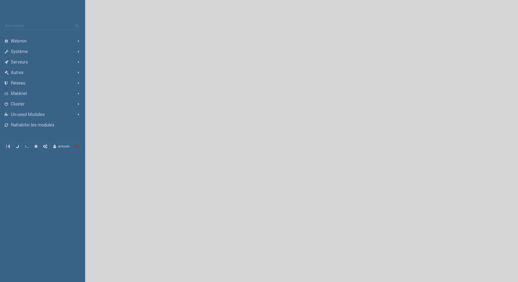 Nom : Screenshot_2019-03-14 Webmin 1 900 sur sbt53 ddns net (Ubuntu Linux 16 04 5).png Affichages : 12 Taille : 27,3 Ko