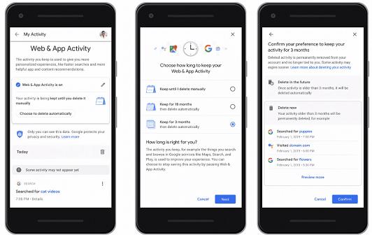 Google : comment supprimer automatiquement votre historique et vos données personnelles