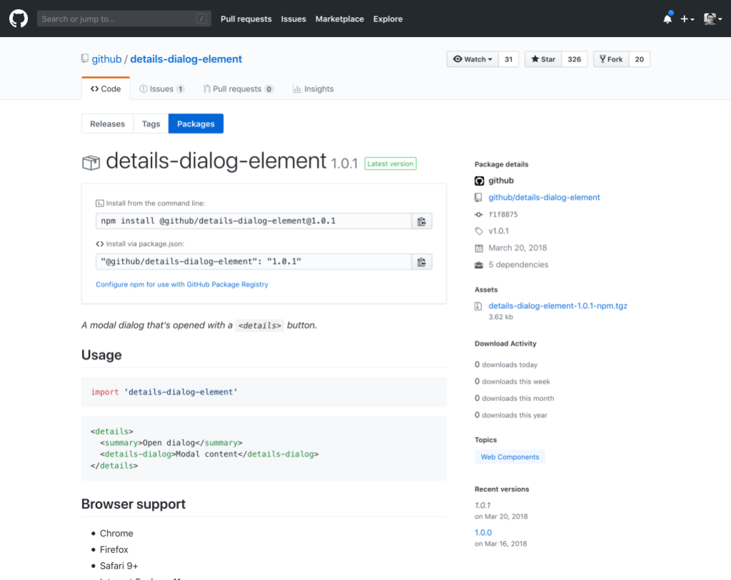 Nom : github-package-registry-repo.png Affichages : 1954 Taille : 146,4 Ko