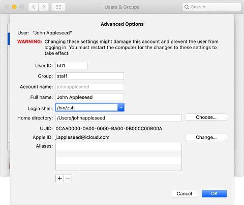 Apple remplace Bash par Zsh comme shell par défaut dans
