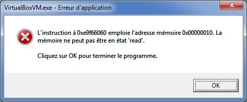 Nom : VirtualBox erreur - 001.jpg Affichages : 45 Taille : 56,3 Ko