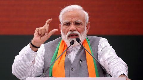 Nom : le-premier-ministre-indien-narendra-modi-a-new-delhi-le-8-avril-2019_6169704.jpg Affichages : 2398 Taille : 19,9 Ko