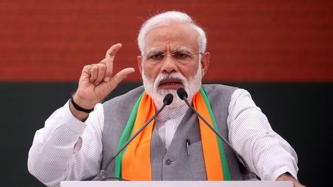 Nom : le-premier-ministre-indien-narendra-modi-a-new-delhi-le-8-avril-2019_6169704.jpg Affichages : 2400 Taille : 19,9 Ko