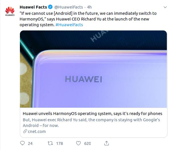 Huawei présente son système d'exploitation qui succédera à Android