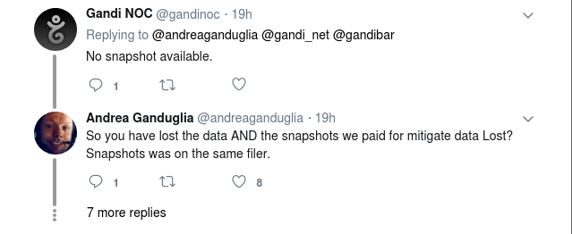 Gandi, un bureau français d'enregistrement de <b>noms de domaine</b>, perd les données de ses clients et leur...