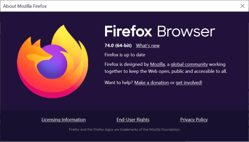 Nom : firefox-74.png Affichages : 25685 Taille : 56,7 Ko