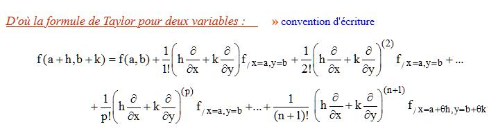 Nom : Formule Taylor 2 variables.png Affichages : 105 Taille : 13,2 Ko