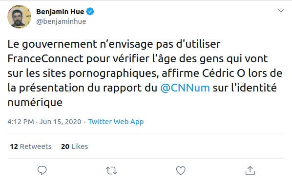 Nom : Screenshot_2020-06-16 Benjamin Hue on Twitter Le gouvernement n'envisage pas d'utiliser FranceCo.png Affichages : 2919 Taille : 38,6 Ko